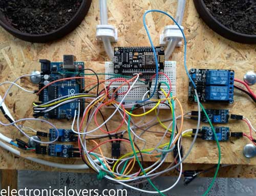 Smart Watering System that can water six plants remotely | Arduino + IoT